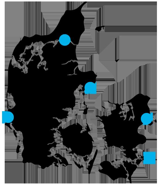 Danmarkskort: Vi har auditions i hele landet!